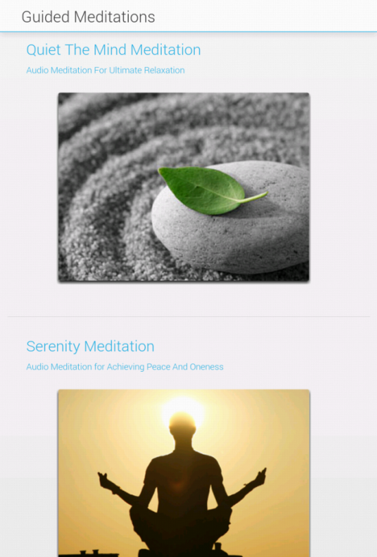 Guided Meditations for Android