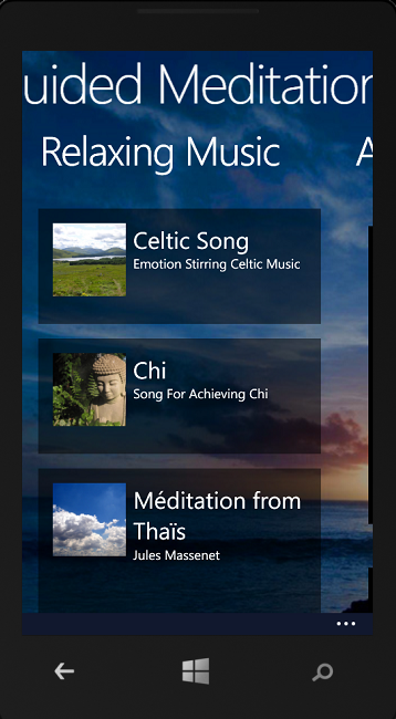 Guided Meditations for Windows Phone 8